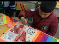 亲子活动彩绘游戏—彩绘风筝